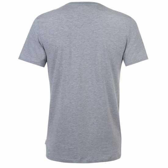 Jack And Jones Мъжка Тениска Core Rise T Shirt Mens Lt Grey Melange Мъжки тениски и фланелки