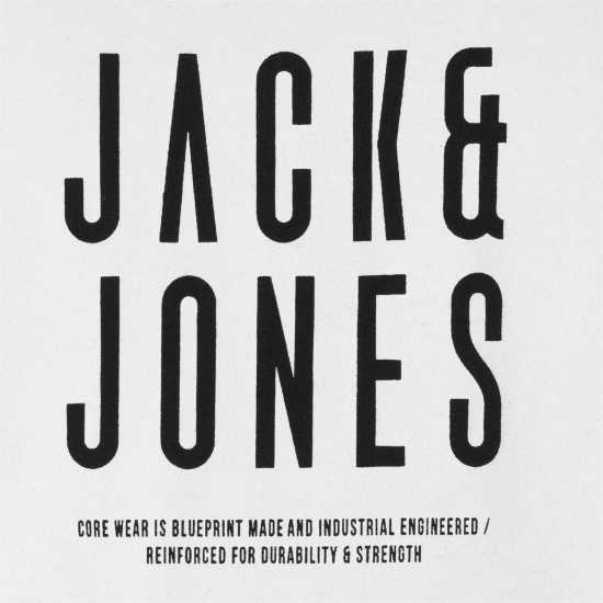 Jack And Jones Мъжка Тениска Core Rise T Shirt Mens Black Мъжки тениски и фланелки