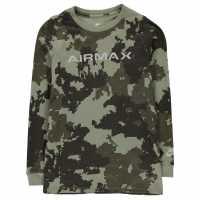 Nike Тениска Момчета Camo Long Sleeve T Shirt Junior Boys Khaki Детски тениски и фланелки