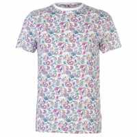 Soviet Тениска Paisley T Shirt White Мъжки тениски и фланелки