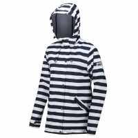 Regatta Bertille Waterproof & Breathable Jacket Navy Stripe Дамски грейки