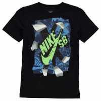 Nike Тениска Момчета Qtt Rip T Shirt Junior Boys Black Детски тениски и фланелки