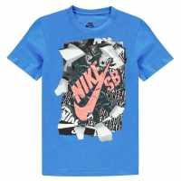 Nike Тениска Момчета Qtt Rip T Shirt Junior Boys Blue Детски тениски и фланелки
