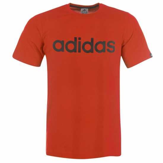 2e771cc6469 Adidas Мъжка Тениска Linear Logo T Shirt Mens LtScarlet/Black Мъжки тениски  и фланелки
