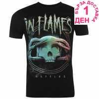 Official Мъжка Тениска In Flames T Shirt Mens Battle Circle Мъжки тениски и фланелки