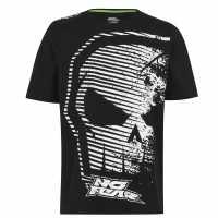 No Fear Мъжка Тениска Core Graph T Shirt Mens Black/White Мъжко облекло за едри хора