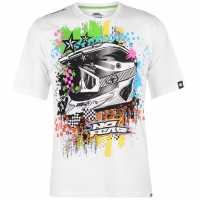 No Fear Мъжка Тениска Core Graph T Shirt Mens White/Helmet Мъжки тениски и фланелки