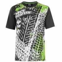 No Fear Мъжка Тениска Core Graph T Shirt Mens Charcoal/Tyre Мъжки тениски и фланелки