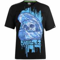 No Fear Мъжка Тениска Core Graph T Shirt Mens Black/Helmet Мъжки тениски и фланелки