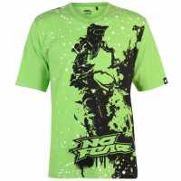 No Fear Мъжка Тениска Core Graph T Shirt Mens Green/Rider Мъжки тениски и фланелки
