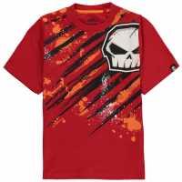 No Fear Тениска Момчета С Щампа Core Graphic T Shirt Junior Boys Red Детски тениски и фланелки