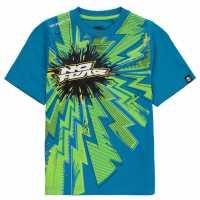 No Fear Тениска Момчета С Щампа Core Graphic T Shirt Junior Boys Blue Детски тениски и фланелки