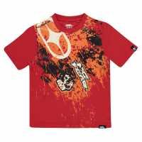 No Fear Тениска Момчета С Щампа Core Graphic T Shirt Junior Boys Red Splat Детски тениски и фланелки