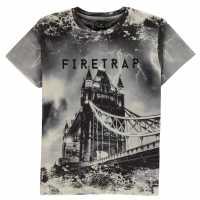 Firetrap Тениска Момчета Sub T Shirt Junior Boys London Детски тениски и фланелки
