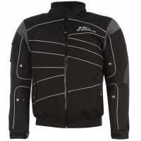 No Fear Мъжко Мото Яке Moto Jacket Mens Black/Grey Мъжки якета и палта