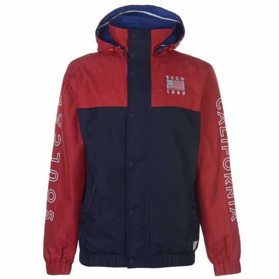 Soulcal Cut And Sew Jacket Navy/Red Мъжки якета и палта