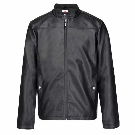 Lee Cooper Мотоциклетно Яке Изкуствена Кожа Pu Biker Jacket Mens Black Мъжки якета и палта