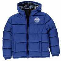 Lee Cooper Детско Палто 2 Zip Bubble Coat Junior Boys Royal Blue Детски якета и палта