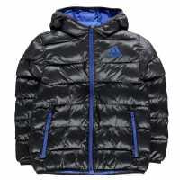 Adidas Яке Момчета Padded Jacket Junior Boys Black/Blue Детски якета и палта