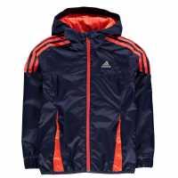 Adidas Яке Момчета Mid Season Jacket Junior Boys Navy/SolarRed Детски якета и палта