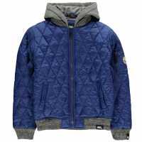 No Fear Детско Яке Бомбър Quilt Bomber Jacket Junior Boys Blue Детски якета и палта