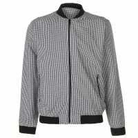 Pierre Cardin Мъжко Яке Бомбър Seer Bomber Jacket Mens Black/White Мъжки якета и палта