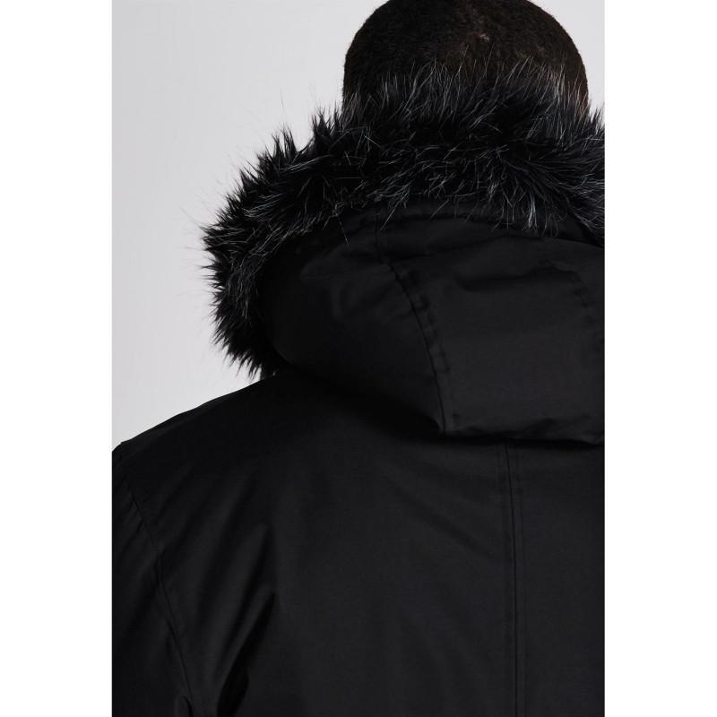 28bf0b9da06 Fabric Дълга Мъжка Парка Long Parka Jacket Mens Black Мъжки якета и палта