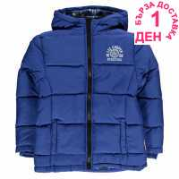 Lee Cooper Детско Пухено Яке Two Zip Bubble Jacket Junior Boys Royal Blue Детски якета и палта