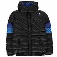 No Fear Детско Яке Boys Contrast Black And Blue Jacket Junior Black/Blue Детски якета и палта
