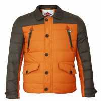 Lee Cooper Мъжко Яке Two Tone Down Jacket Mens Orange Мъжки якета и палта