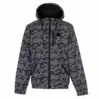 Everlast Мъжко Яке За Дъжд All Over Print Rain Jacket Mens Charcoal Camo Мъжки якета и палта