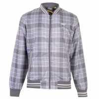 Everlast Мъжко Яке За Дъжд Check Rain Jacket Mens White/Grey Мъжки якета и палта