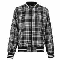 Everlast Мъжко Яке За Дъжд Check Rain Jacket Mens Black/White Мъжки якета и палта