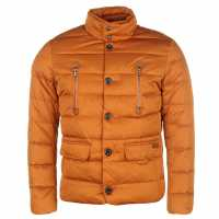 Lee Cooper Мъжко Яке Zip Down Jacket Mens Orange Мъжки якета и палта
