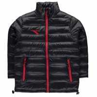 Diadora Яке Момчета Manchester Jacket Junior Boys Black Мъжки якета и палта