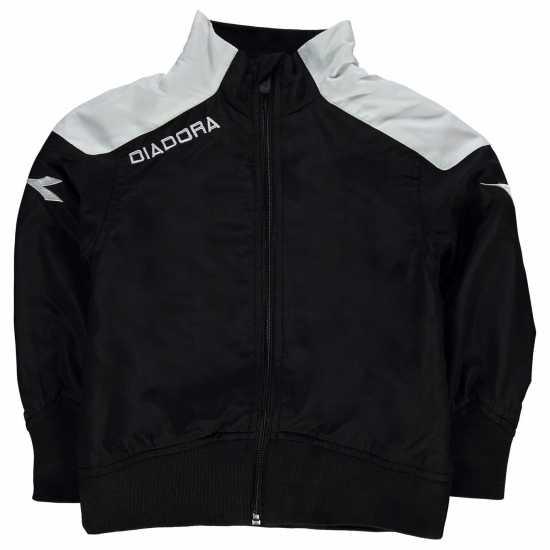 95eaca00503 Diadora Яке Момчета Minneote Jacket Junior Boys Black/White Мъжки якета и  палта