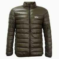 Lee Cooper Мъжко Яке Ultra Light Down Jacket Mens Army Green Мъжки якета и палта
