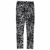 Miso Luxury All Over Print Leggings Junior Girls Blk/Char Animal Детски клинове