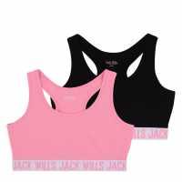 Lee Cooper Яке Момичета Glitzy Baseball Jacket Girls Pink/Navy Детски горнища и пуловери