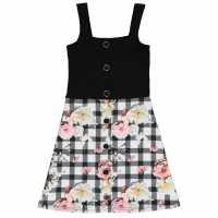 Firetrap Детска Рокля Rib Skater Dress Junior Girls  Детски поли и рокли