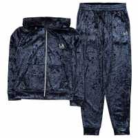 La Gear Velvour Tracksuit Junior Girls Navy Детски полар