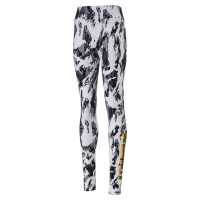 Puma Rebel Leggings Junior Girls White AOP Детски клинове