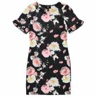 Firetrap Bodycon All Over Print Dress Girls Midnight Floral Детски поли и рокли