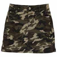 Firetrap Camo Mini Skirt Junior Girls Olive Camo Детски поли и рокли