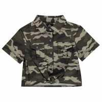 Firetrap Camo Shirt Girls Camo AOP Детски ризи