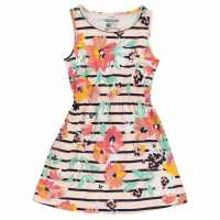 Soulcal Детска Рокля Jersey Dress Junior Girls Rust Floral Детски поли и рокли