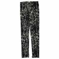 Crafted Luxury Leggings Girls Blk/Char Animal Детски клинове
