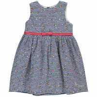 Crafted Рокля За Момиченца Floral Sun Dress Infant Girls Stripe Детски поли и рокли