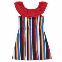 Soulcal Детска Рокля Stripe Frill Dress Junior Girls  Детски поли и рокли