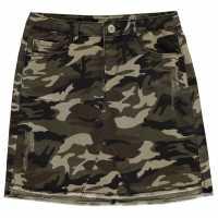Firetrap Camo Stretch Mini Skirt Junior Girls  Детски поли и рокли